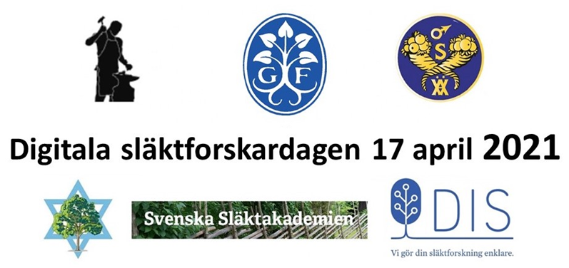 Digitala släktforskardagen 17 april 2021
